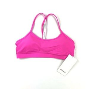 Lululemon Flow Y Bra IV Pow Pink Athletic Size 12